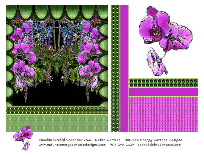 Nature's Energy Cortese Designs Fuschia Orchid Cascades