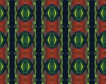 Pattern 2B based on Orange Flower painting