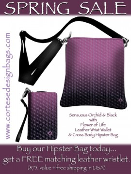 New Spring Bags feature Orchid Pinks and Flower of Life  by Debr