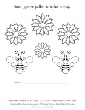 Click the bees to download a printable coloring sheet