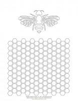 DCortese_HoneybeeCombCOLORINGpage72i
