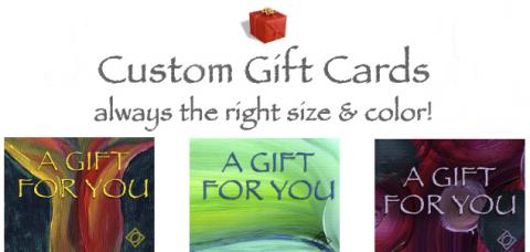 Custom Gift Cards for Debra Cortese Bags and Art