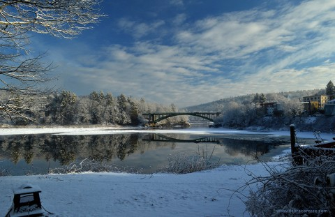 first snow Delaware River View-NarrowsburgNY