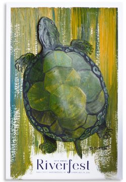 Turtle painting for Riverfest 2016 Poster Art Auction