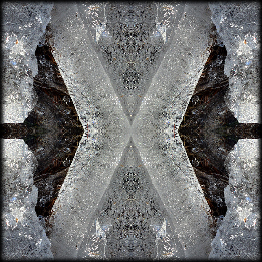 ICE X reflections 01 by Debra Cortese