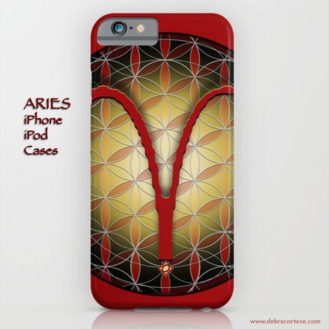 Flower of Life Astrology Design - ARIES iPhone,iPod cases by Deb