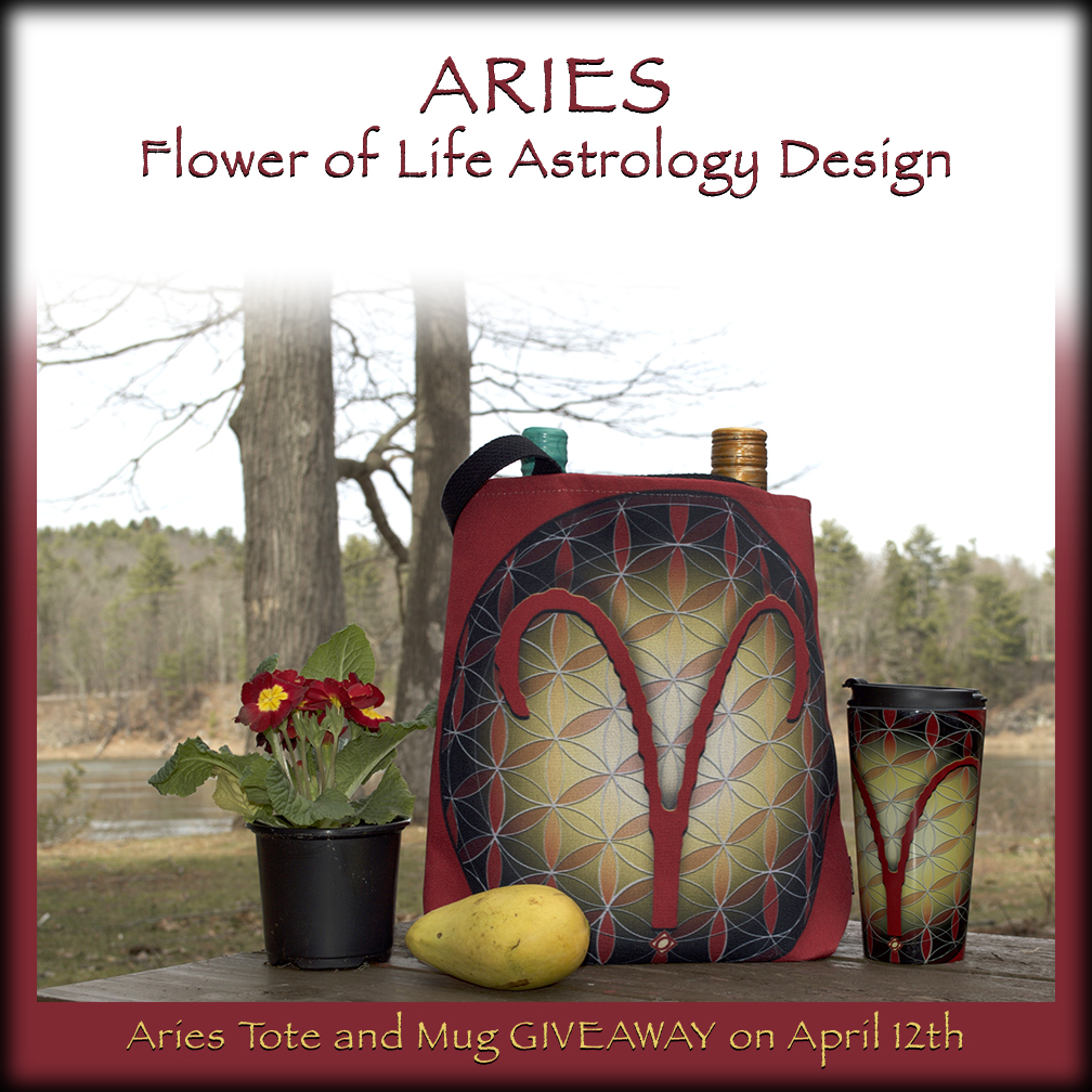 Flower of Life Aries Tote and Travel Mug photo for April 12th Giveaway