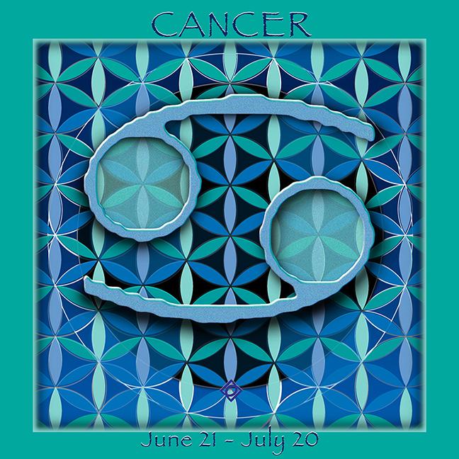 Flower of Life Astrology Design for CANCER June 21 - July 20