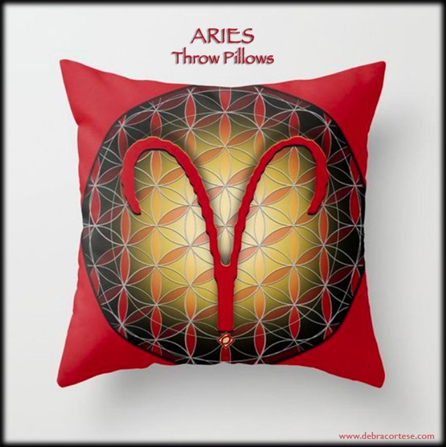 Debra Cortese Designs ARIES Throw Pillow, Nature Images, Art, De