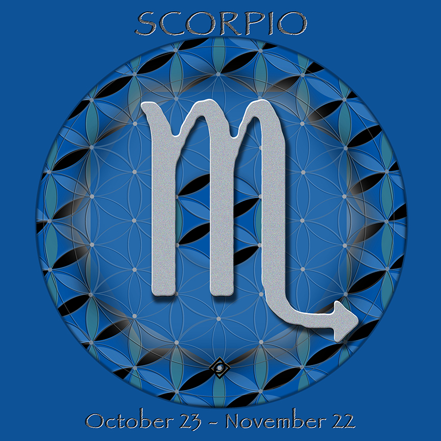 Flower of Life Astrology Design SCORPIO October 23- November 22 - by Debra Cortese