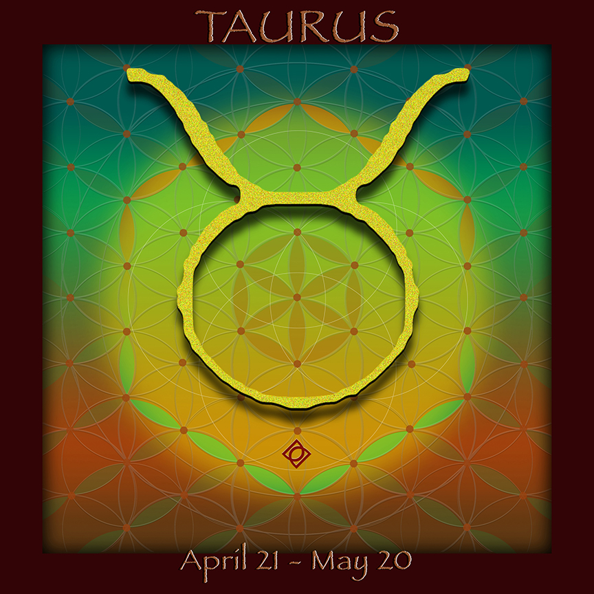 TAURUS April 21 - May 20 astrology design by Debra Cortese