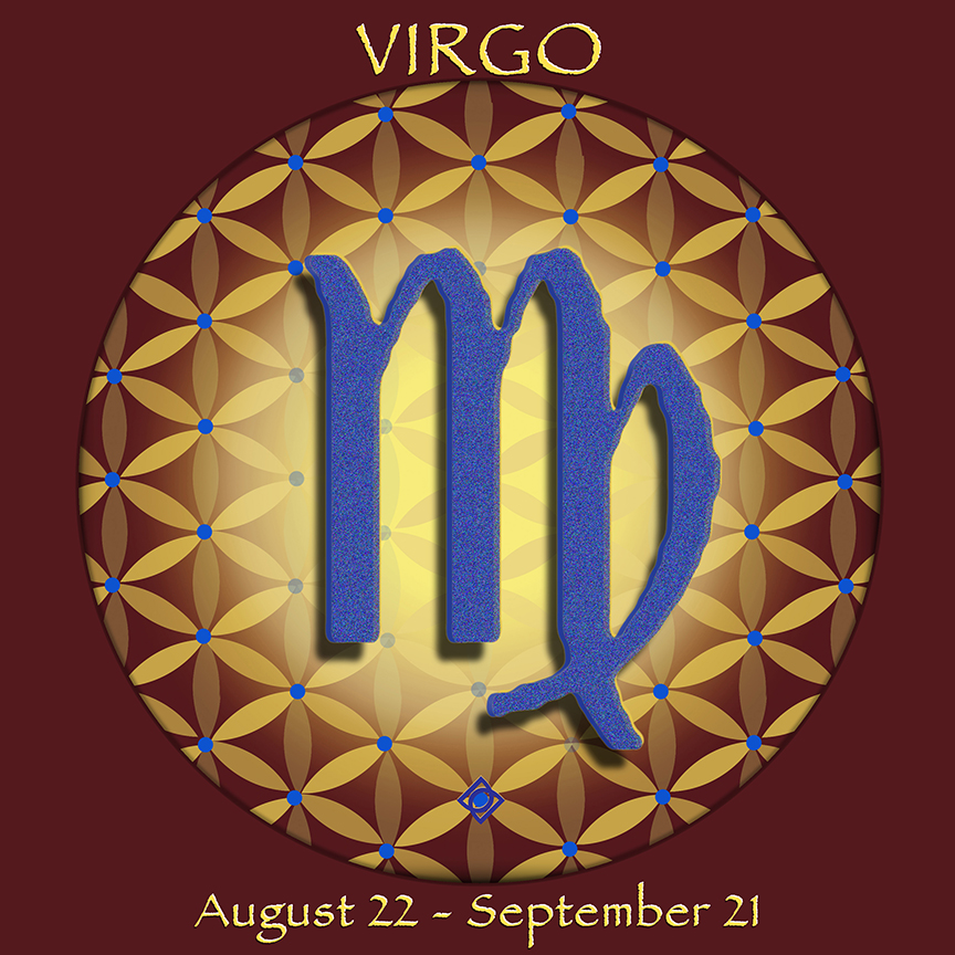 Flower of Life Astrology Design by Debra Cortese. VIRGO August 22 - September 21