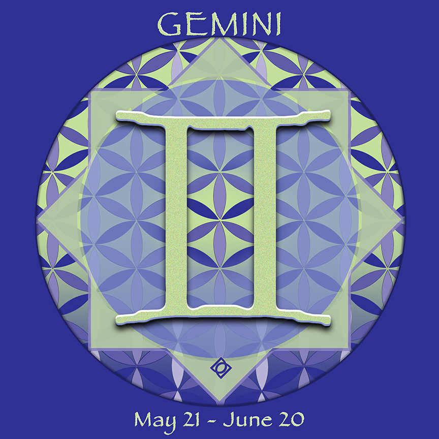 GEMINI astrology design by Debra Cortese - May 21 - June 20