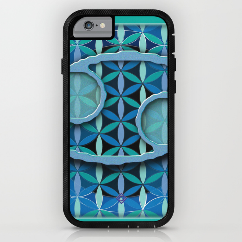 Flower of Life Astrology Design iPhone 6 rugged case for CANCER birthdays. click image