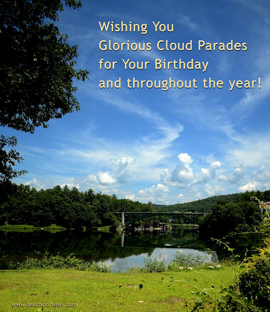 Delaware River Glorious Clouds Birthday image by Debra Cortese ©2017