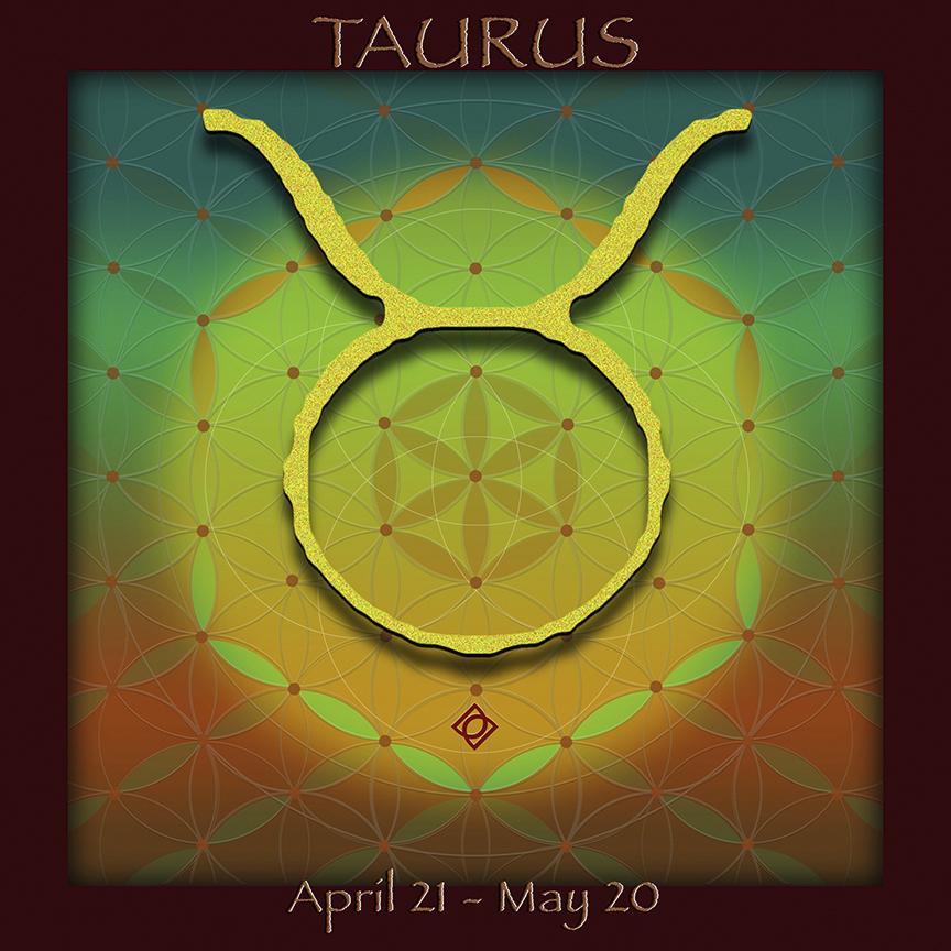 Flower of Life Astrology Design TAURUS design by Debra Cortese Designs
