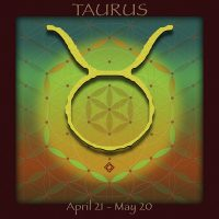 Flower of Life TAURUS Astrology Design by Debra Cortese