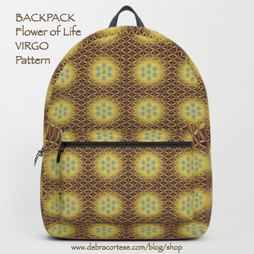 click here for details on this VIRGO pattern Backpack by Debra Cortese Designs