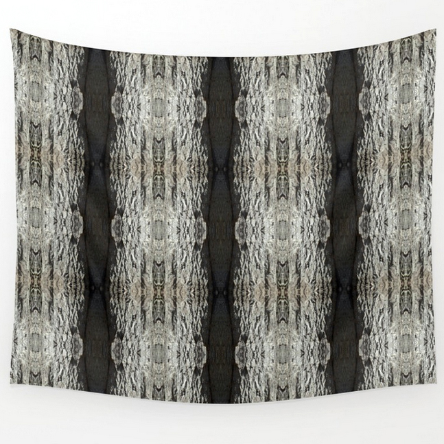 Oak Tree Bark vertical pattern wall tapestry by Debra Cortese Designs