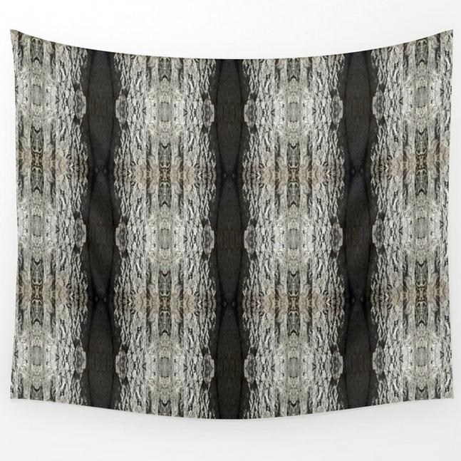Oak Tree Bark vertical pattern wall tapestry by Debra Cortese Designs