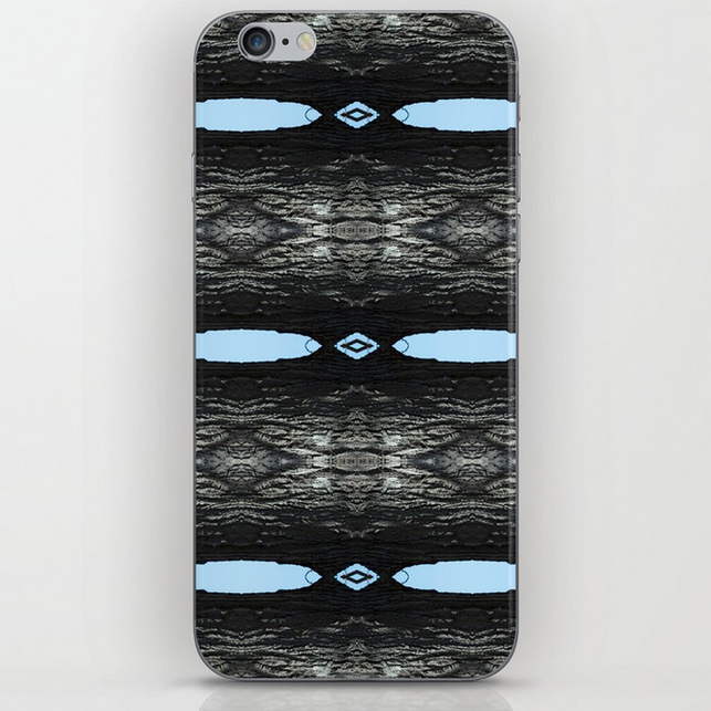 Oak Tree Blue Portal iphone skins by Debra Cortese