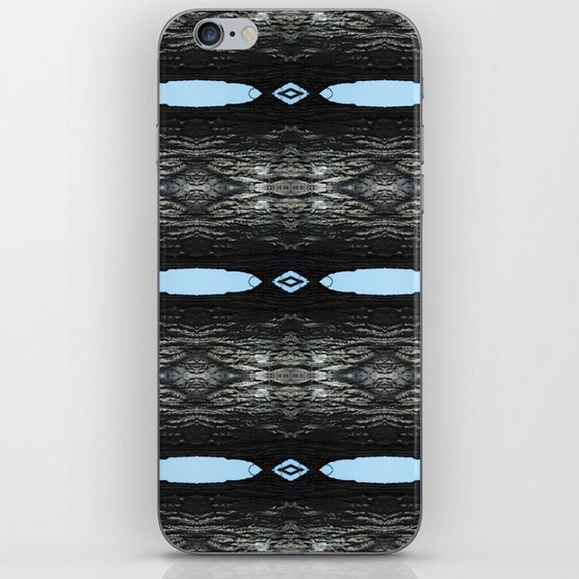 Oak Tree Blue Portal iphone skins by Debra Cortese