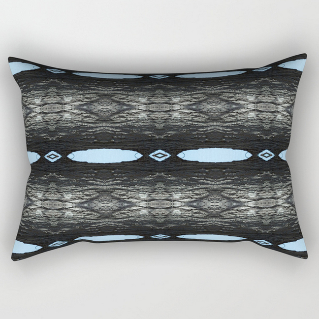 Oak Tree Blue Portal rectangular pillow by Debra Cortese Designs
