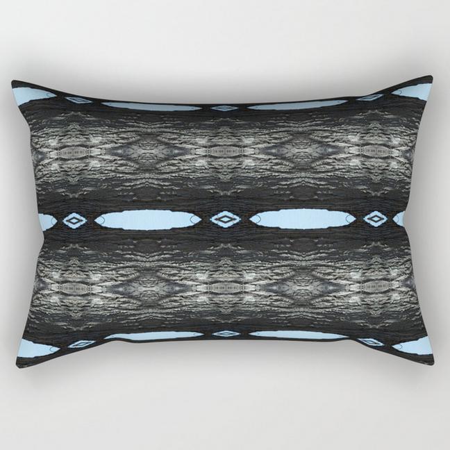 Oak Tree Blue Portal rectangular pillow by Debra Cortese Designs