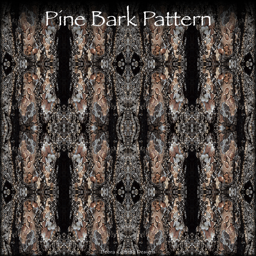 sample section of Debra Cortese's Pine Bark Pattern