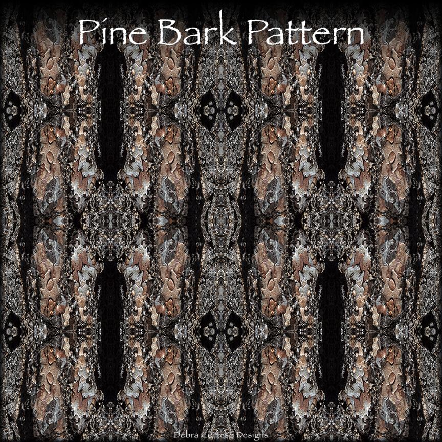 sample section of Debra Cortese's Pine Bark Pattern