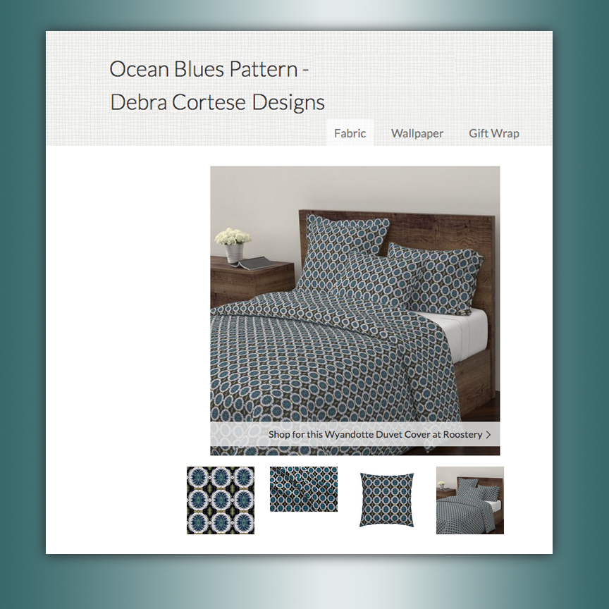 Ocean Blues pattern by Debra Cortese