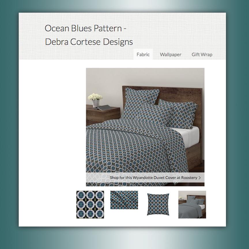 Ocean Blues pattern by Debra Cortese