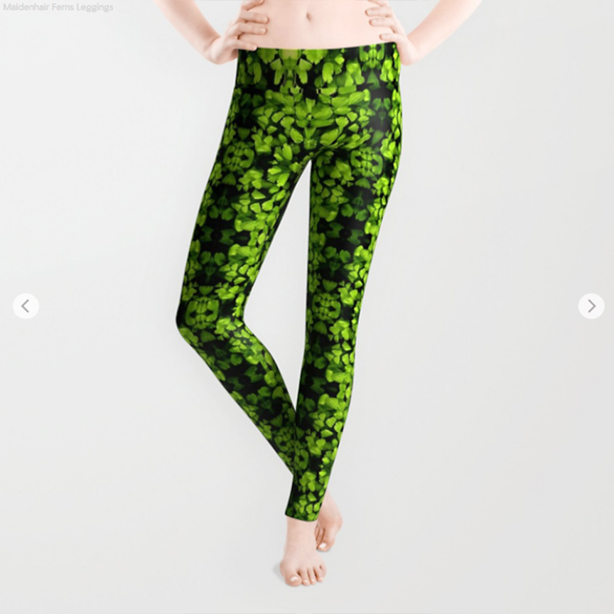 Maidenhair Fern pattern Leggings by Debra Cortese Designs