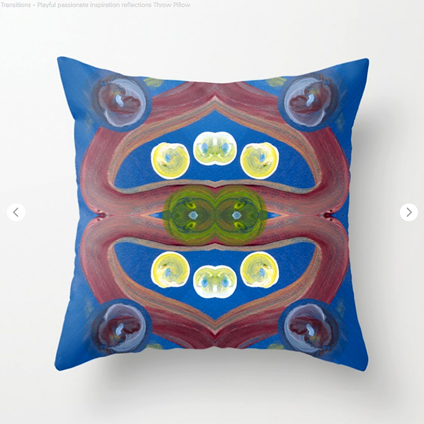 Transitions Playful Passionate Throw Pillow by Debra Cortese Designs