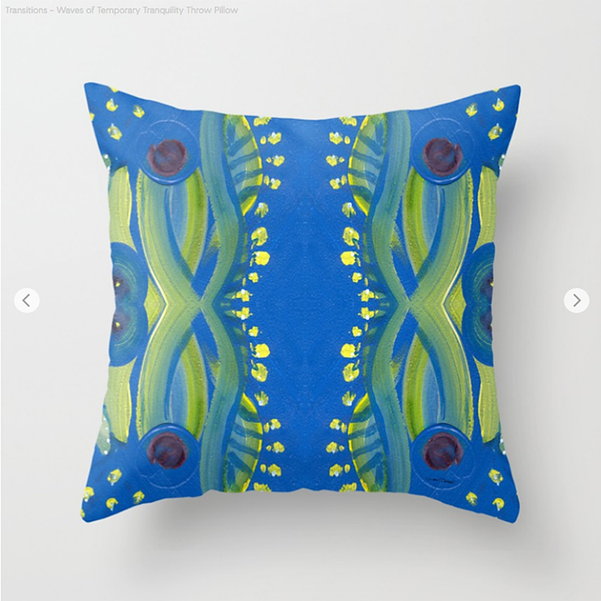 Transitions Tranquility Throw Pillow by Debra Cortese Designs