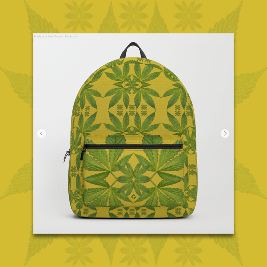 Marijuana Leaves Pattern Backpack image by Debra Cortese Designs