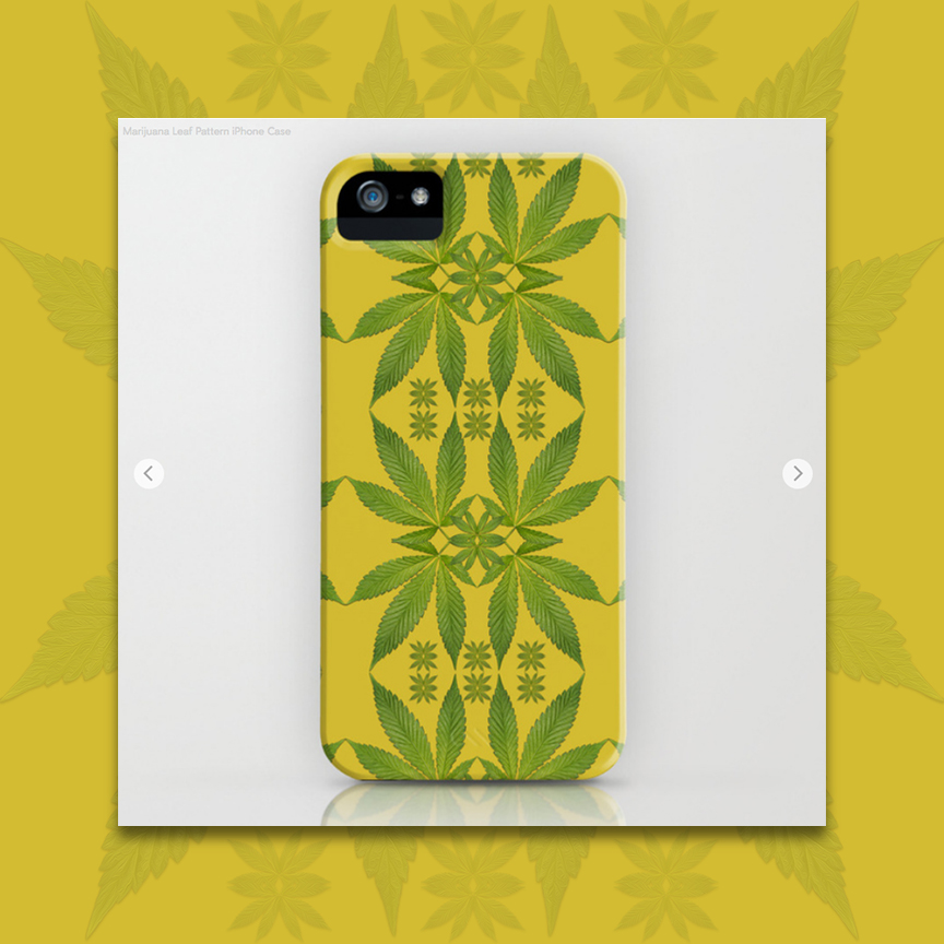 Marijuana Leaves Pattern iPhone Case by Debra Cortese Designs